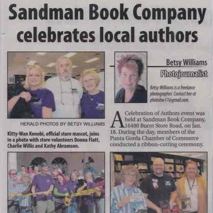 Sandman Books Local Authors